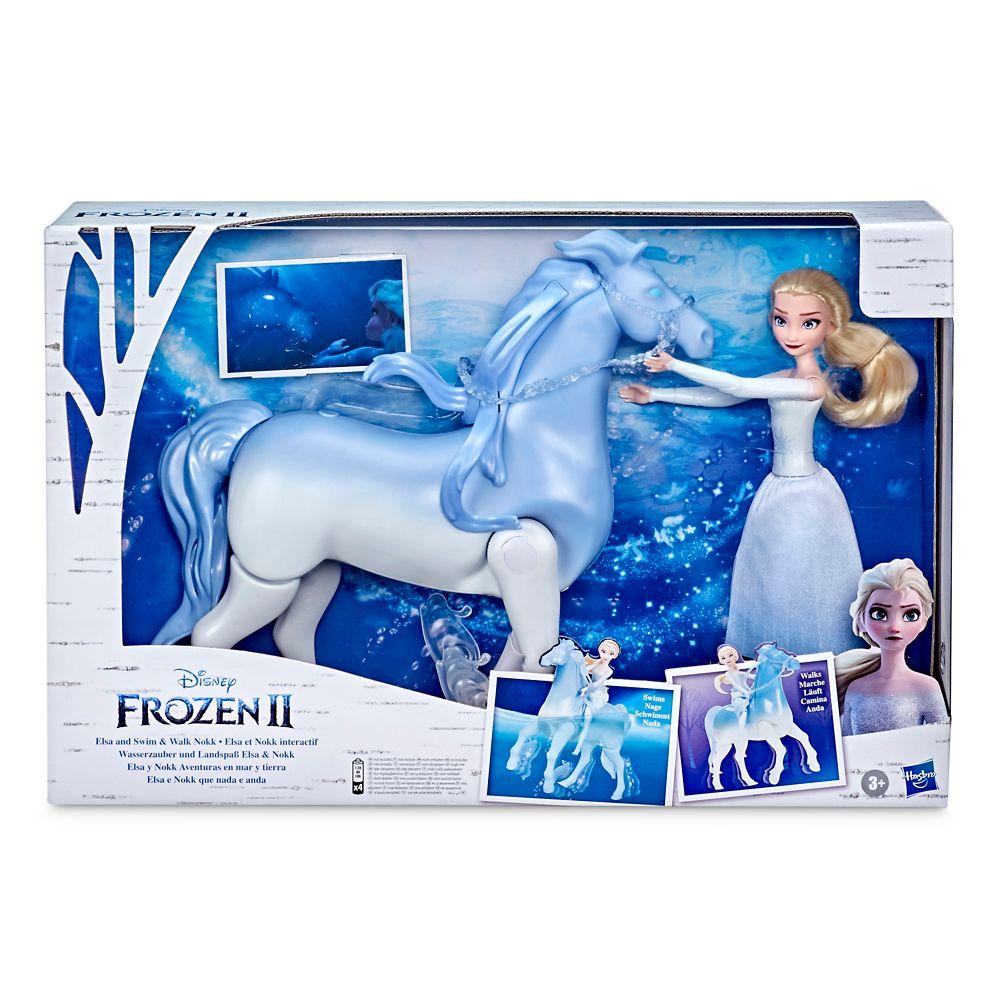 Elsa with Swim and Walk Nokk Dolls by Hasbro – Frozen 2
