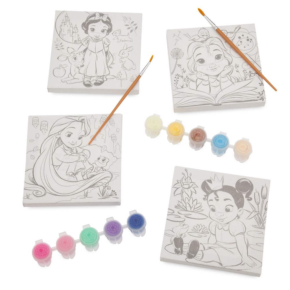 Disney Animators' Collection Canvas Paint Set