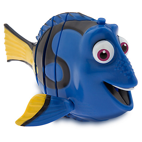 Dory swimming action figure finding dory disney store for Talking fish toy