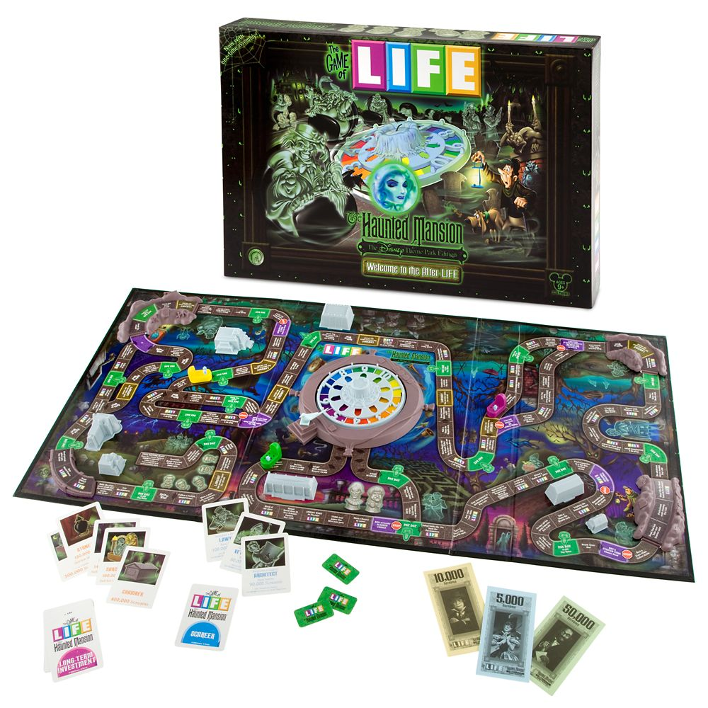 The Game of Life The Haunted Mansion Disney Theme Park Edition