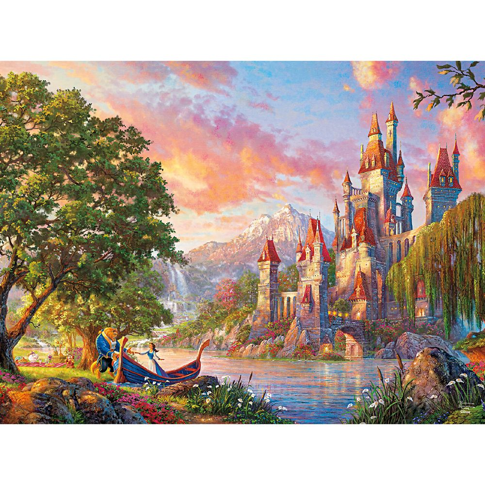 Beauty and the Beast Puzzle by Thomas Kinkade