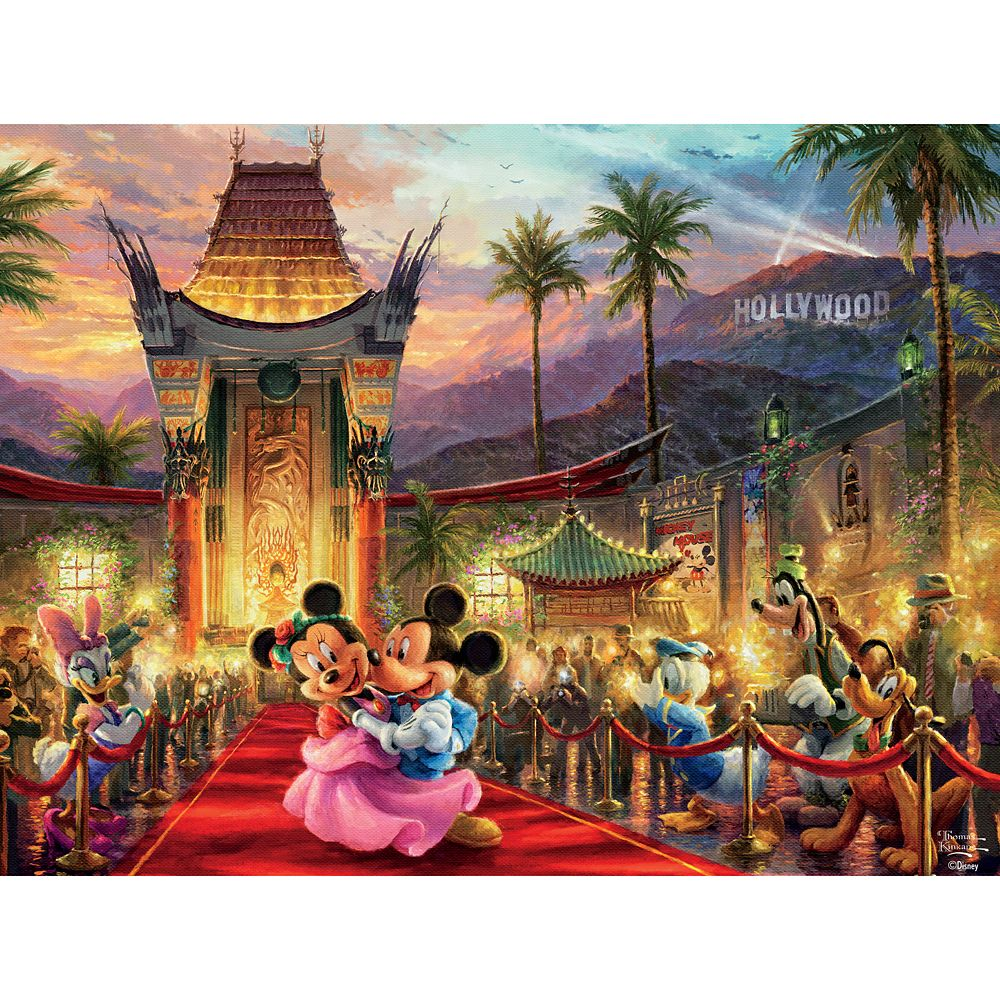 Mickey and Minnie Mouse in Hollywood Puzzle by Thomas Kinkade