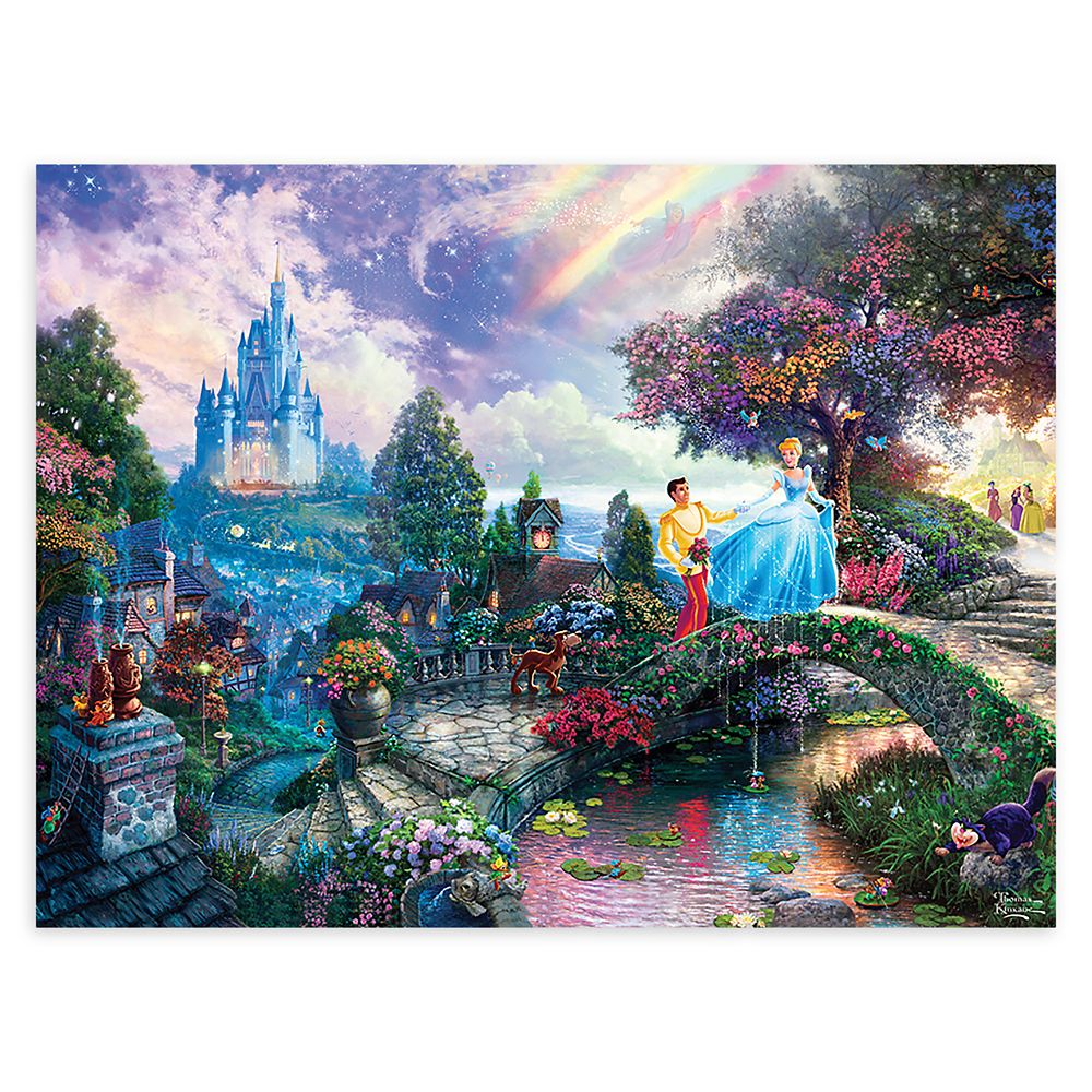 Cinderella Wishes Upon a Dream Puzzle by Thomas Kinkade