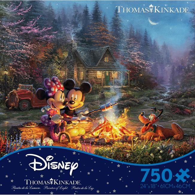 Mickey and Minnie Sweetheart Campfire Puzzle by Thomas Kinkade Studios