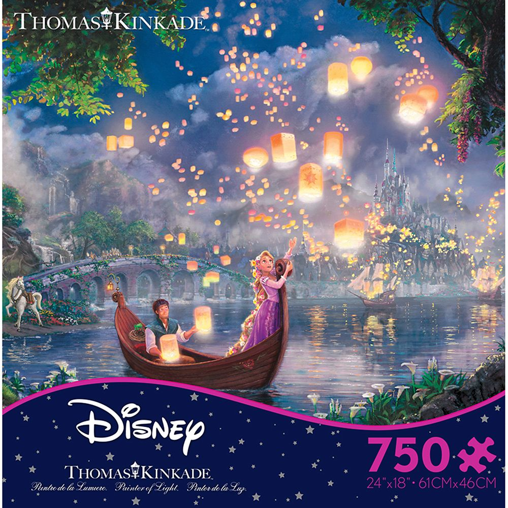 Tangled Jigsaw Puzzle by Thomas Kinkade Official shopDisney. Top Disney Christmas Gifts