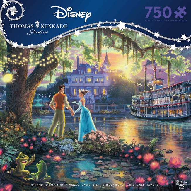 The Princess and the Frog Puzzle by Thomas Kinkade Studios