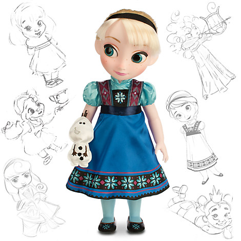 disney animators 39 collection elsa doll frozen 16 39 39 disney store. Black Bedroom Furniture Sets. Home Design Ideas