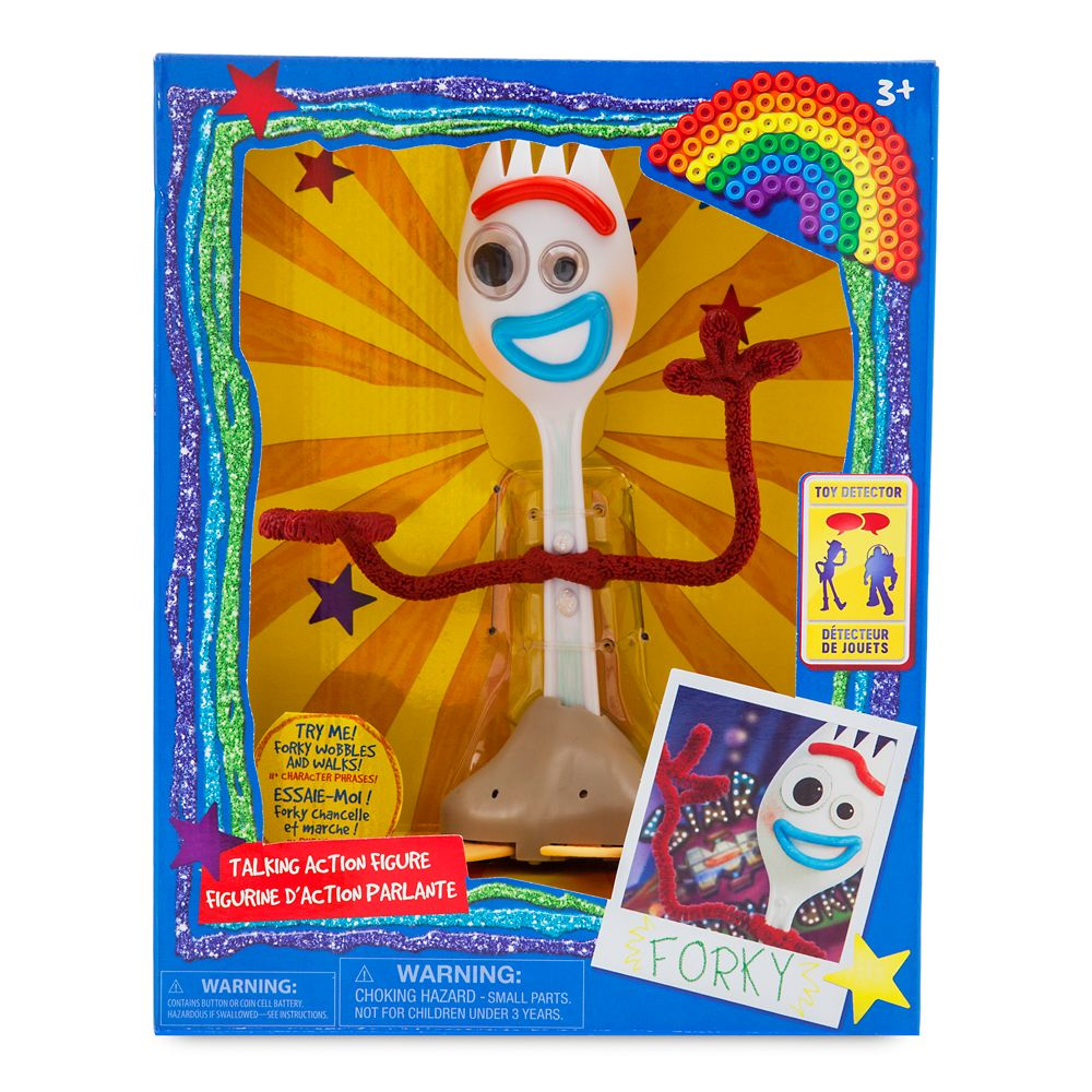 Forky Interactive Talking Action Figure – Toy Story 4 – 7 1/4''