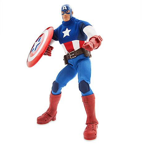 Marvel Ultimate Series Captain America Premium Action Figure - 11 1/2''