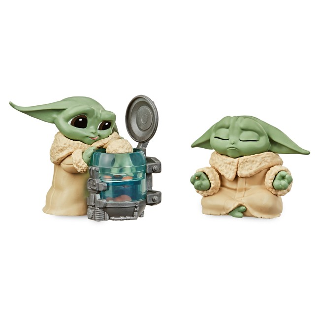 The Child Bounty Collection Figure Set by Hasbro – ''Curious Child'' & ''Meditation Posed'' – Star Wars: The Mandalorian – 2 1/4''