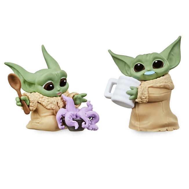 The Child Bounty Collection Figure Set by Hasbro – ''Tentacle Soup Surprise'' & ''Blue Milk Mustache'' – Star Wars: The Mandalorian – 2 1/4''
