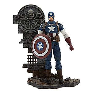 Disney Store Captain America Action Figure  -  Marvel Select  -  7''