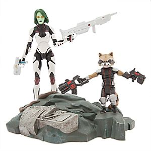 Gamora with Rocket Raccoon Action Figure Set - Guardians of the Galaxy - Marvel Select 6101047451987P