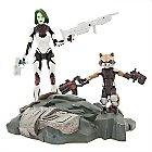 Gamora with Rocket Raccoon Action Figure Set - Marvel Select