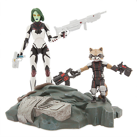 Gamora with Rocket Raccoon Action Figure Set - Guardians of the Galaxy - Marvel Select