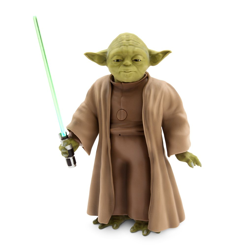 Yoda Talking Action Figure with Lightsaber  9''  Star Wars Official shopDisney