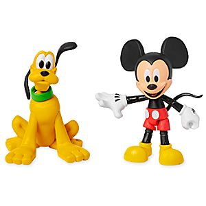 Mickey Mouse and Pluto Action Figure Set