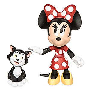 Minnie Mouse and Figaro Action Figure Set