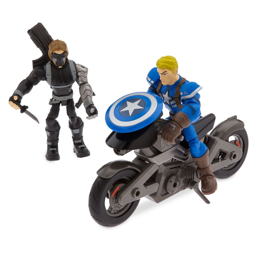 Captain America Motorcycle Set – Marvel Toybox
