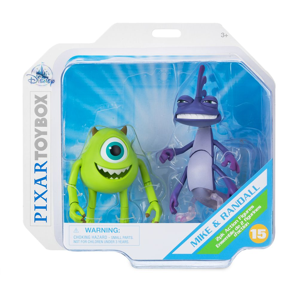 Mike Wazowski And Randall Action Figure Set Monsters Inc Pixar Toybox Shopdisney