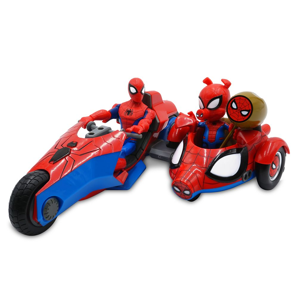 Spider-Man and Spider-Ham Action Figure Bike Set – Marvel Toybox