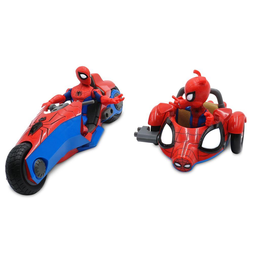 Spider-Man and Spider-Ham Action Figure Bike Set – Marvel Toybox