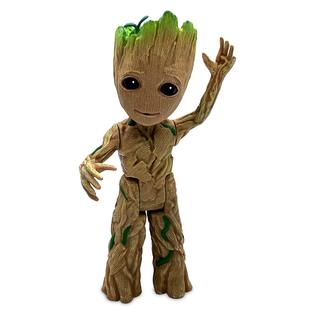 "Disney Store  Baby Groot Plush Guardians of the Galaxy Vol 2 Small 9/"" Toy"