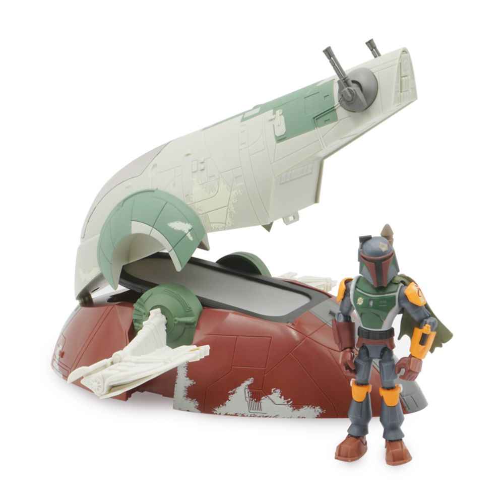 Slave I Ship and Boba Fett Action Figure Play Set – Star Wars Toybox