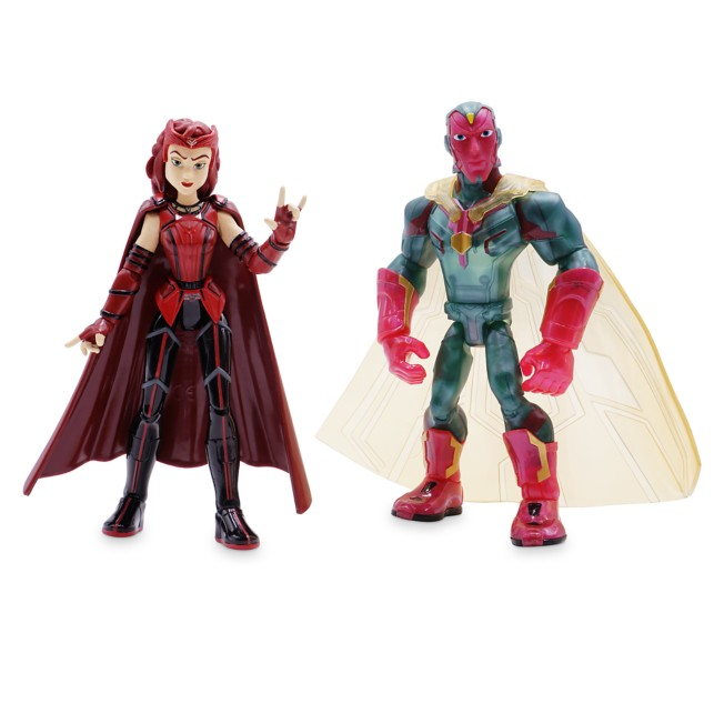 Scarlet Witch and Vision Action Figure Set – WandaVision – Marvel Wars Toybox