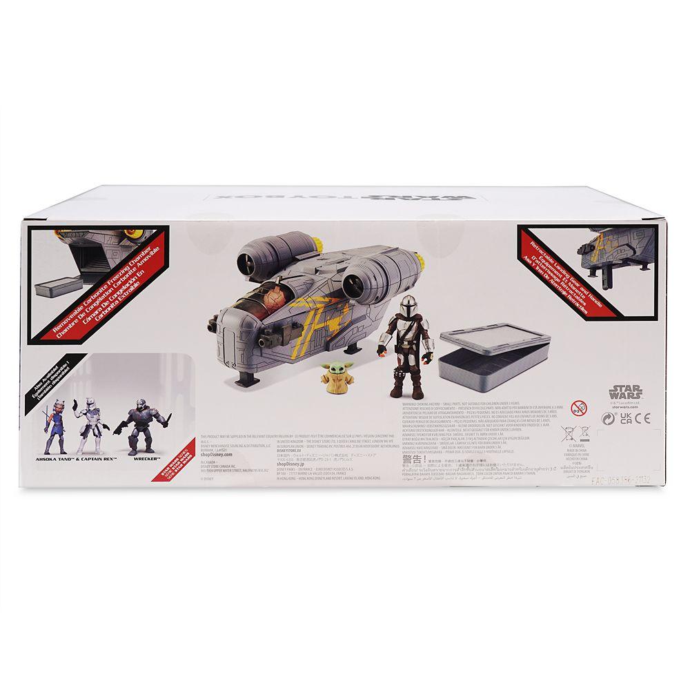 The Mandalorian & Grogu Action Figures with Razor Crest Set – Star Wars Toybox