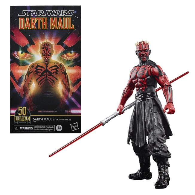 Darth Maul (Sith Apprentice) Action Figure – Lucasfilm: 50th Anniversary – Star Wars The Black Series by Hasbro