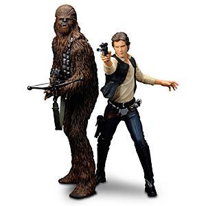 Han Solo & Chewbacca ARTFX+ Figures by Kotobukiya - Star Wars