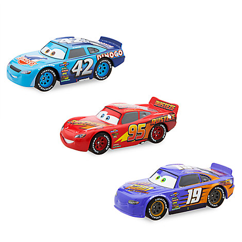 cars 3 deluxe die cast set 3 piece disney store. Black Bedroom Furniture Sets. Home Design Ideas