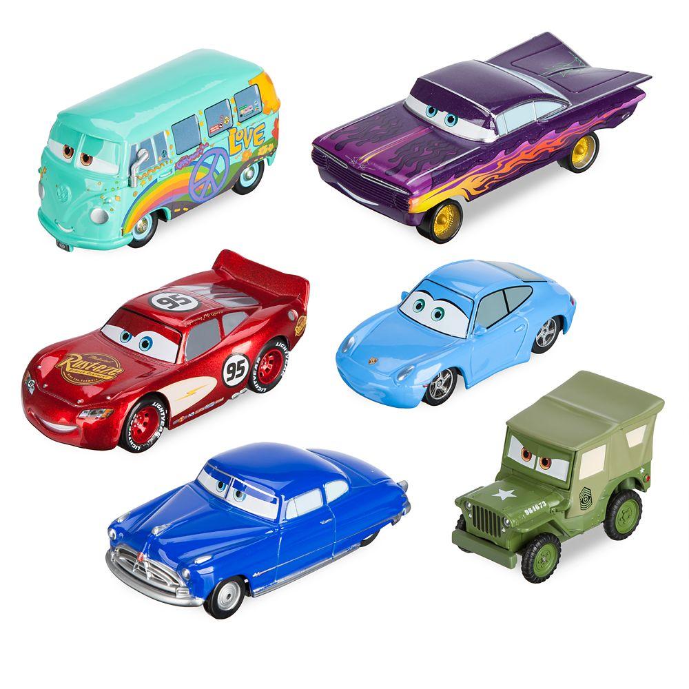 Mack Friction Motor Hauler Truck Plus Six Pullback Cars Set