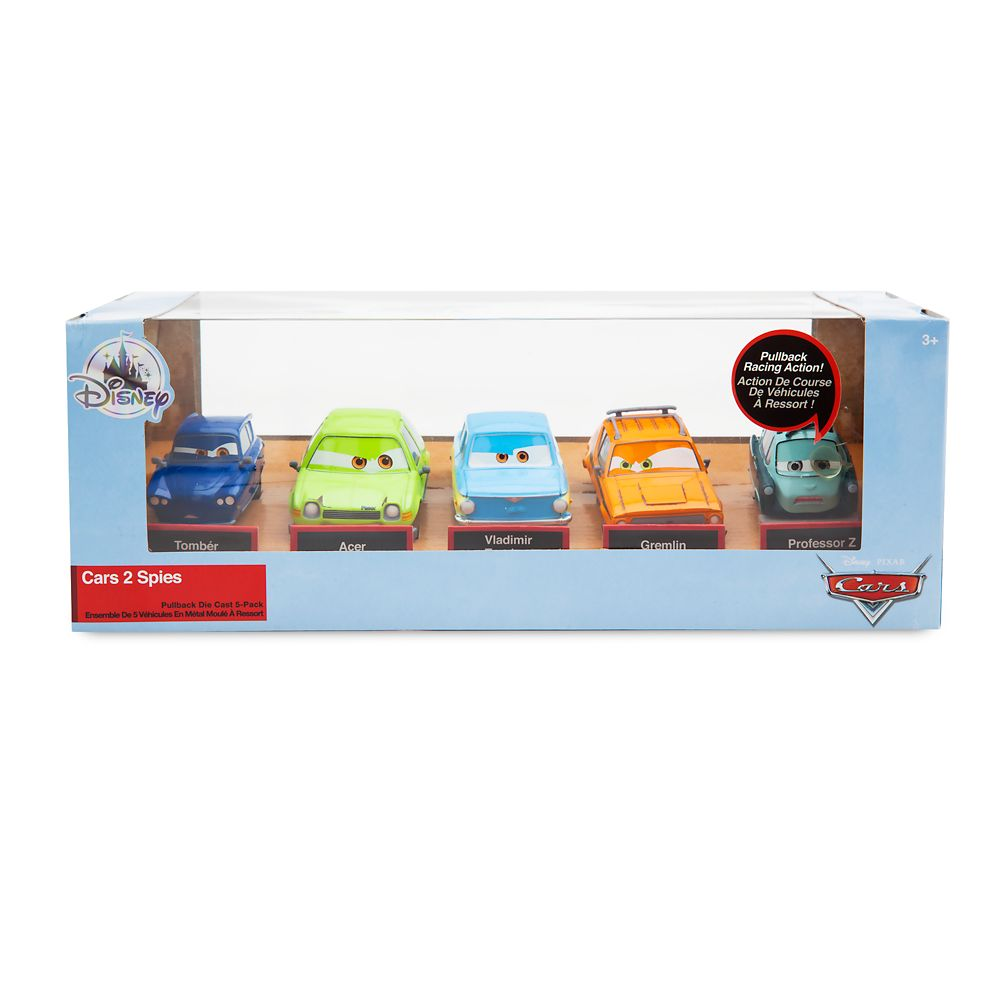 Cars 2 Spies Pull 'n' Race Die Cast Set