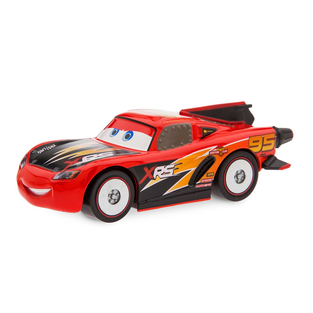 Lightning McQueen Rocket Racer Pull 'N' Race Die Cast Car – Cars