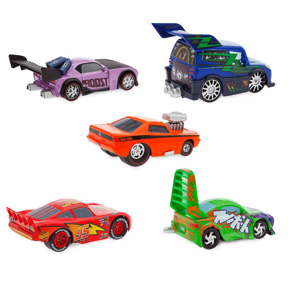 Delinquent Road Hazards and Lightning McQueen Pull 'N' Race Die Cast Set – Cars