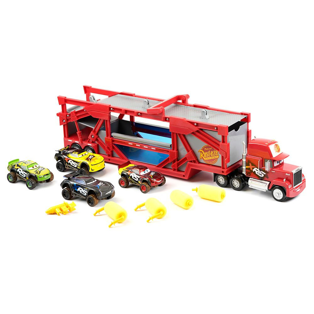 Disney Mack Carrier & Mud Wash Cars Play Set
