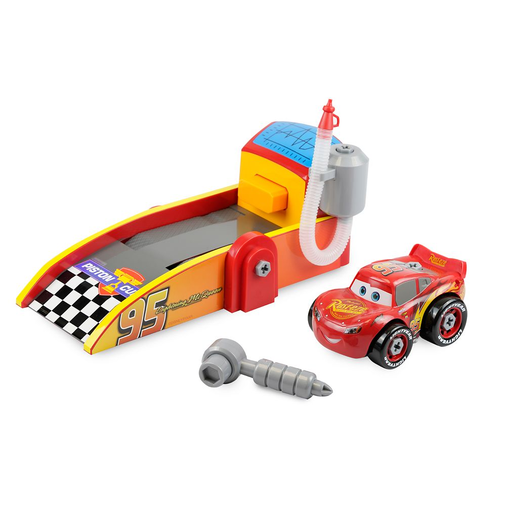 Disney Lightning McQueen Mechanic Shop and Launcher Play Set