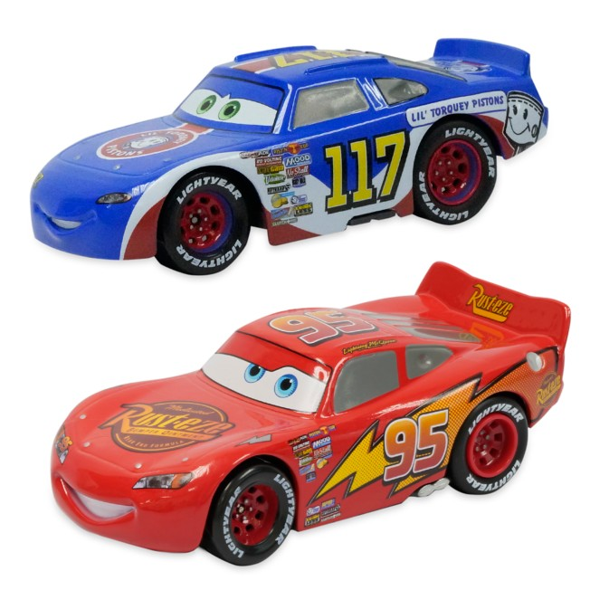 Lightning McQueen and Ralph Carlow Pullback Die Cast Twin Pack – Cars