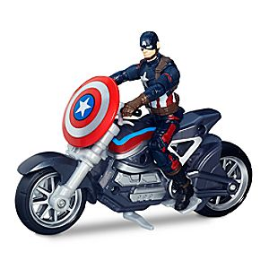 Captain America Action Figure and Bike Set - Captain America: Civil War