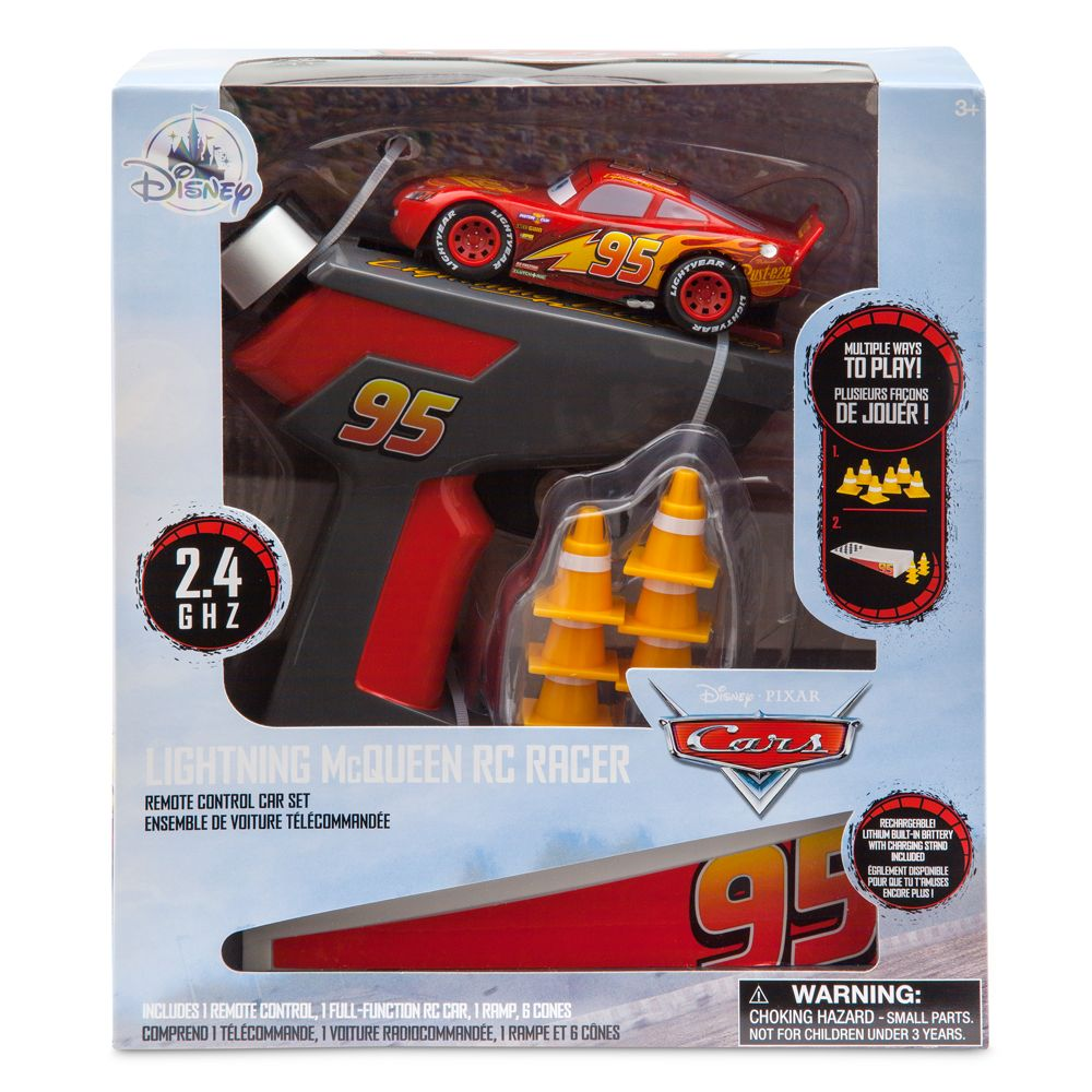 Lightning McQueen RC Racer Remote Control Car Set – Toys for Tots Donation Item