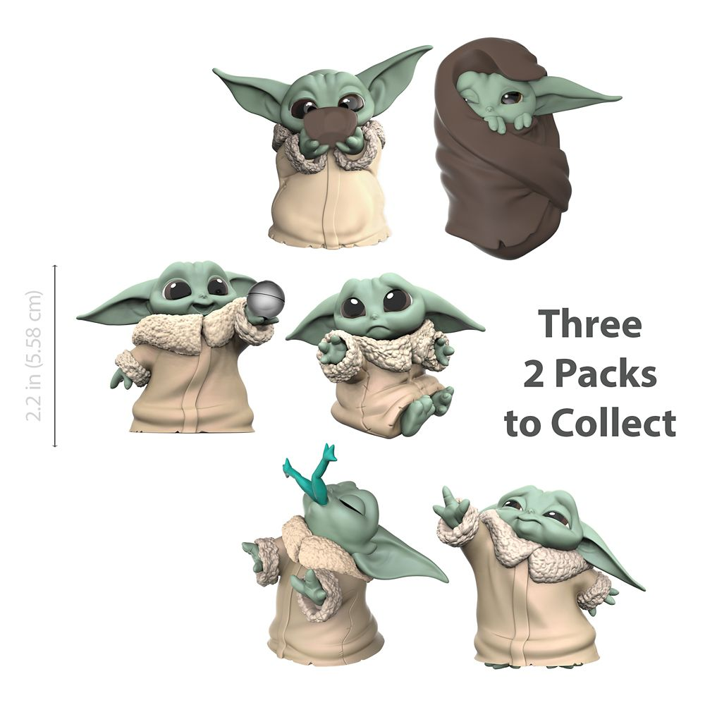 The Child Bounty Collection Figure Set by Hasbro –  ''Froggy Snack'' & ''Force Moment'' – Star Wars: The Mandalorian – 2 1/4''