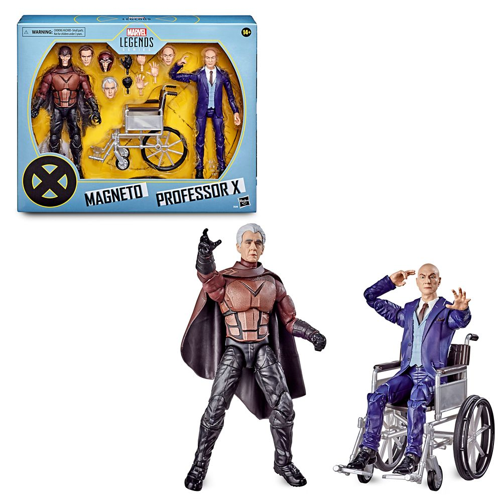 Magneto and Professor X Action Figure Set – Marvel X-Men Legends Series by Hasbro