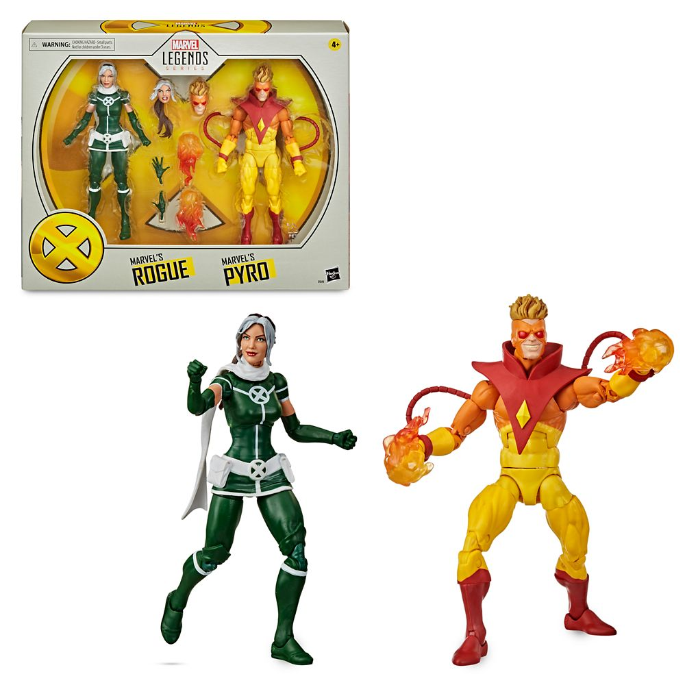 Rogue and Pyro Action Figure Set – Marvel X-Men Legends Series by Hasbro