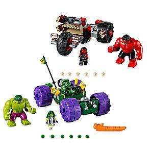 Disney Store Hulk Vs. Red Hulk Playset By Lego  -  Avengers