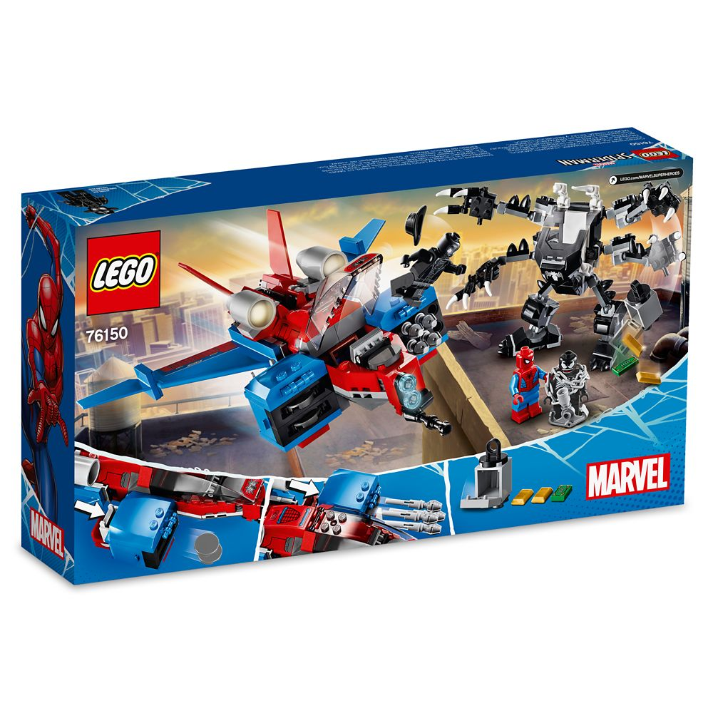 Spiderjet vs. Venom Mech Building Set by LEGO – Spider-Man