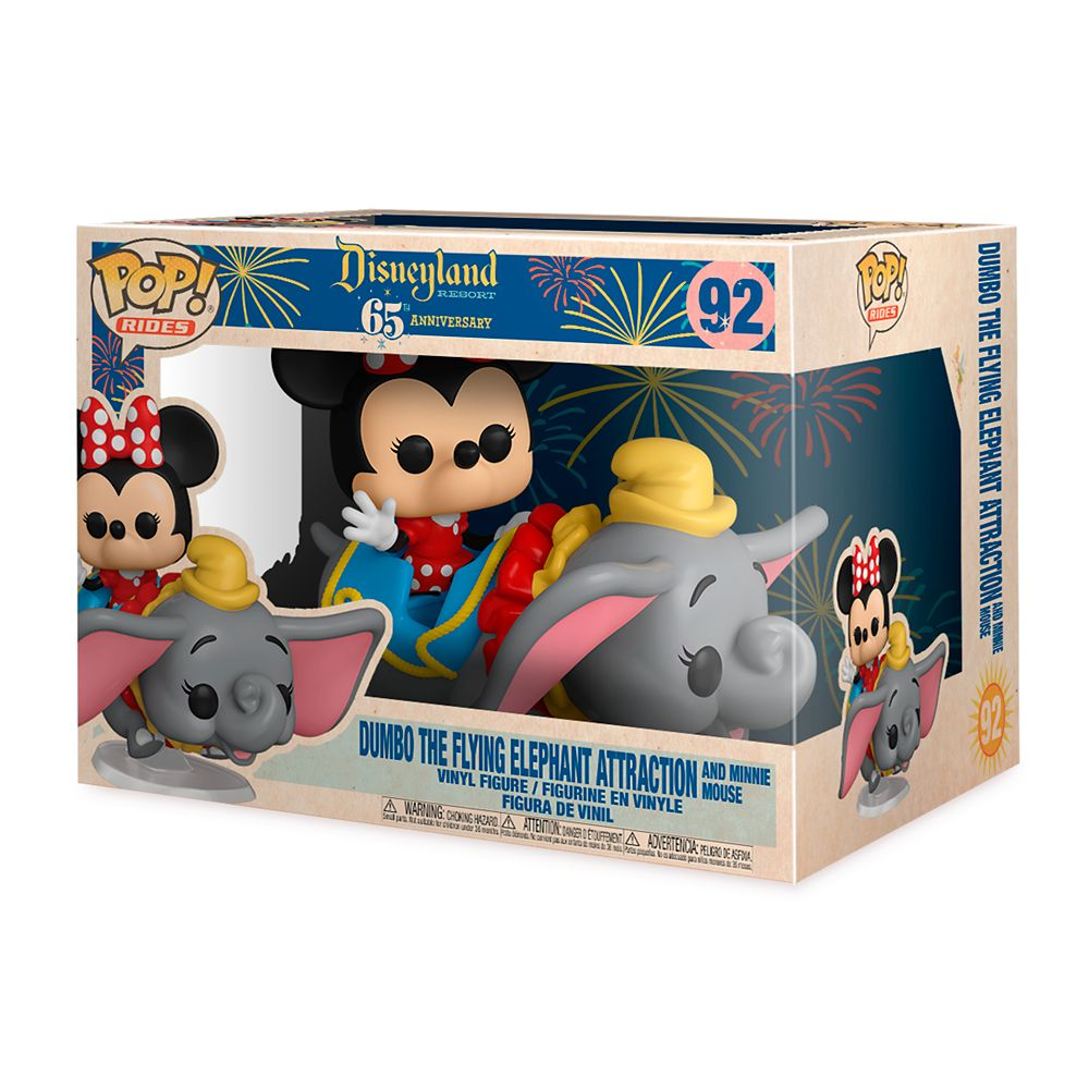 Dumbo the Flying Elephant Attraction and Minnie Mouse Funko Pop! Rides Vinyl Toy