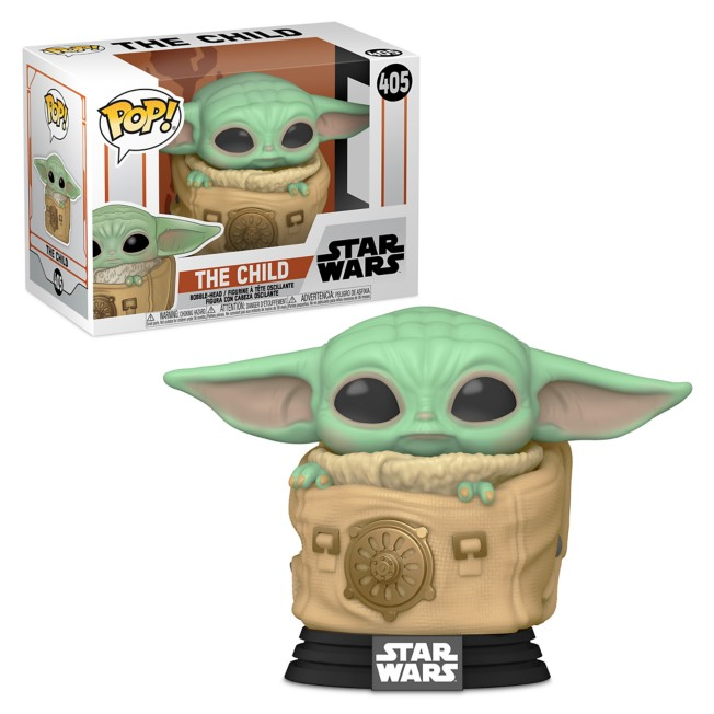 The Child with Carrier Pop! Vinyl Bobble-Head by Funko – Star Wars: The Mandalorian