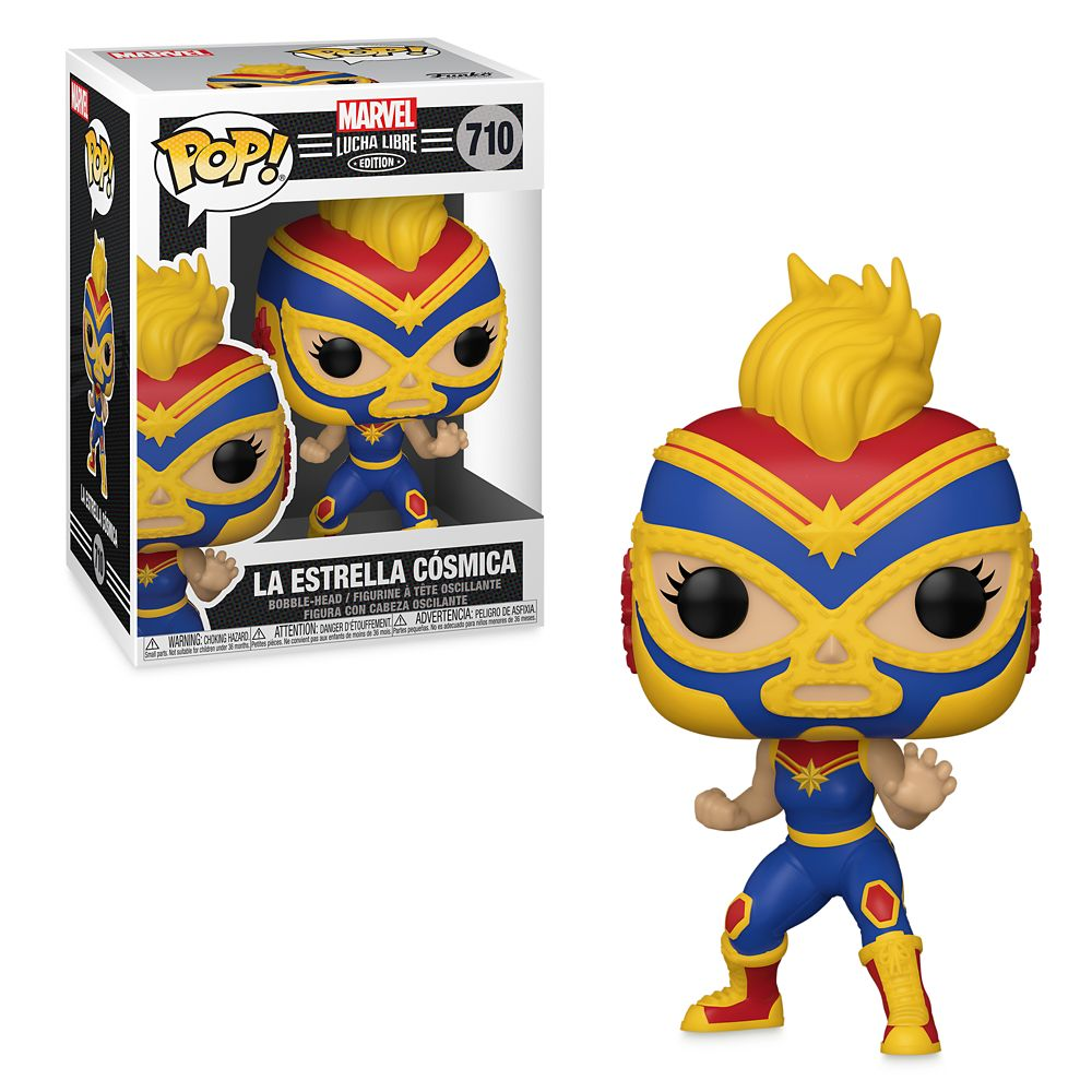 Captain Marvel La Estrella Cósmica Funko Pop! Vinyl Bobble-Head – Marvel Lucha Libre Edition